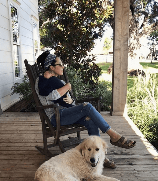 Joanna Gaines with baby Crew