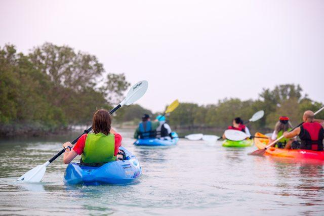 What to do in Doha: Kayaking in the Al Thakira mangroves