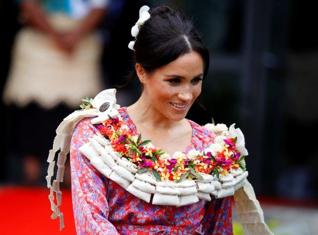 Meghan, Duchess of Sussex visits the University of the South Pacific on October 24, 2018 in Suva, Fiji