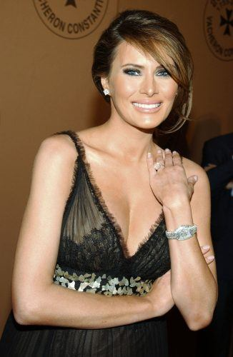 Melania Trump attends the 250th Anniversary Celebration of luxury watch brand Vacheron Constantin in 2005