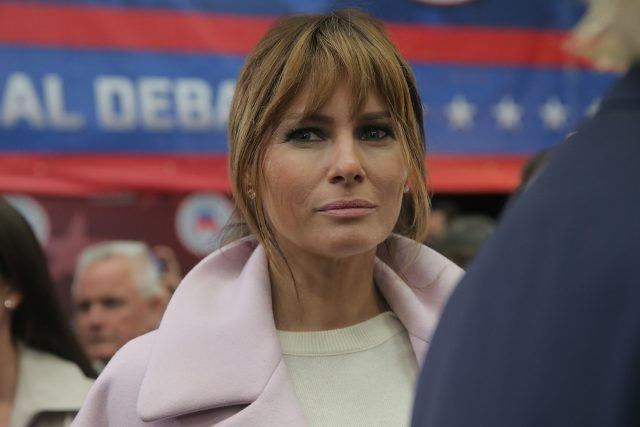Melania Trump attends the the CNBC Republican Presidential Debate in 2015