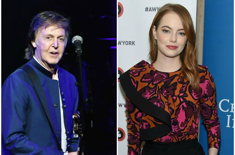 Paul McCartney and Emma Stone