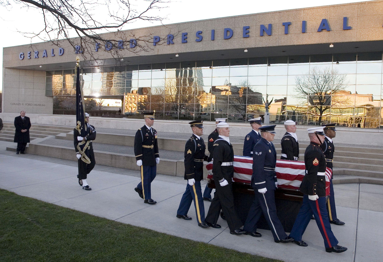 Gerald Ford, Michigan, presidential burials