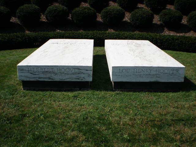 Herbert Hoover tomb in Iowa