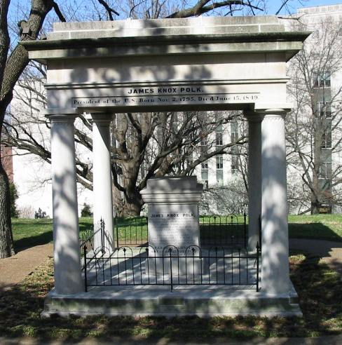 James K Polk Tomb at the Tennessee capitol building in Nashville.