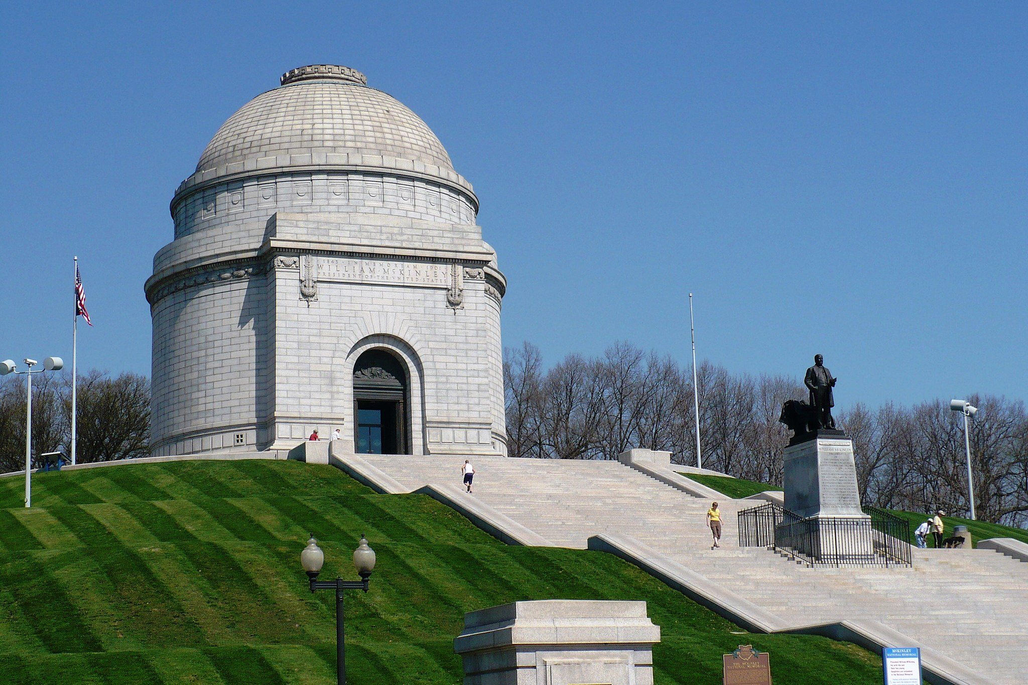 Presidential burial states-Mckinley Monument OH