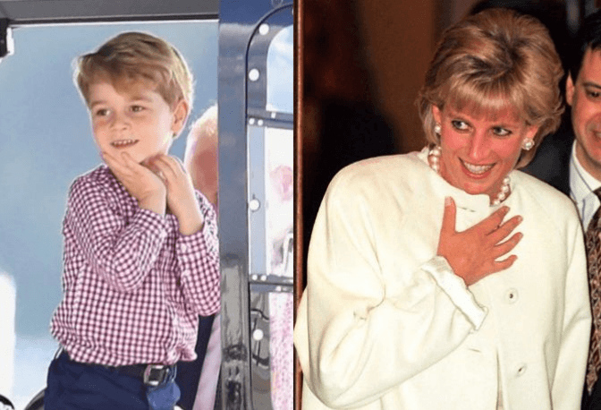 Prince George and Princess Diana