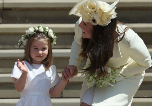 Princess Charlotte takes a tumble at Princess Eugenie's royal wedding