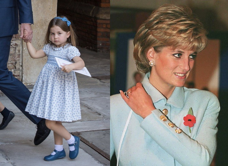 Princess Charlotte and Princess Diana