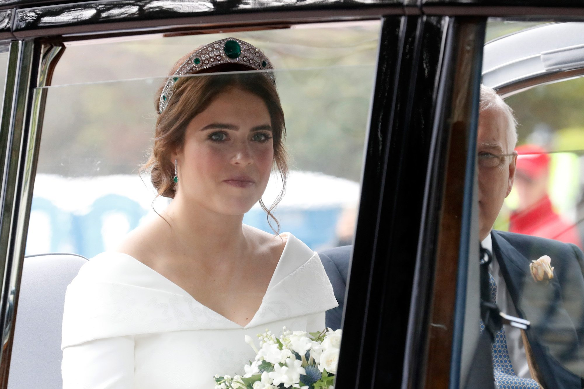 the surprising similarities between princess eugenie and meghan markle s wedding tiaras wedding tiaras