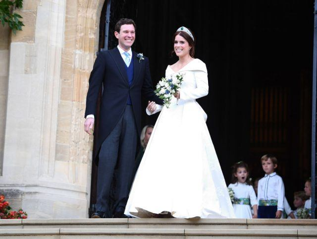 See Princess Eugenie's Dazzling Reception Dress in Official Wedding Photos