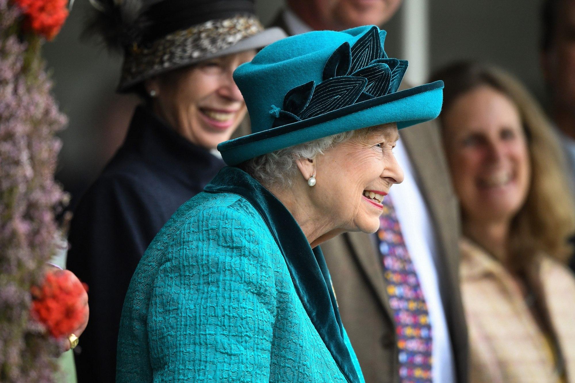 Queen Elizabeth II attends the annual Braemar Highland Gathering in 2018