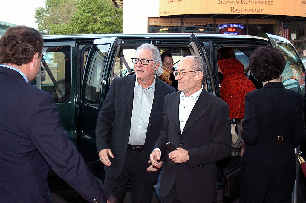 Director Barry Levinson in the middle