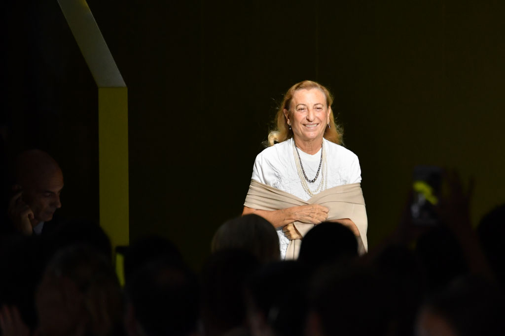 Fashion designer Miuccia Prada