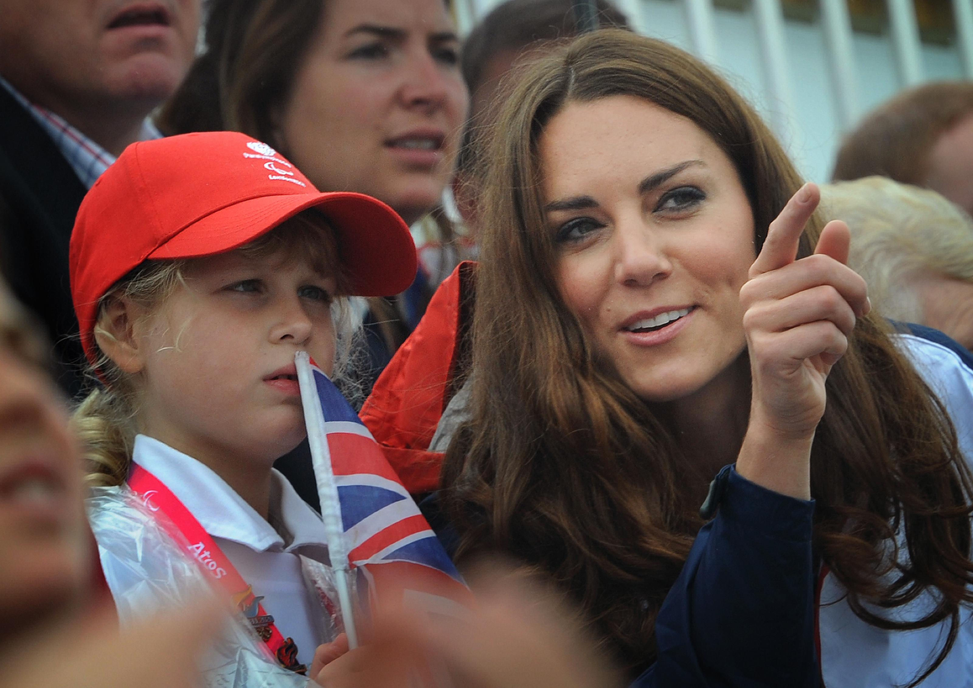 Kate Middleton, Louise Windsor, 2012 Paralympics rowing