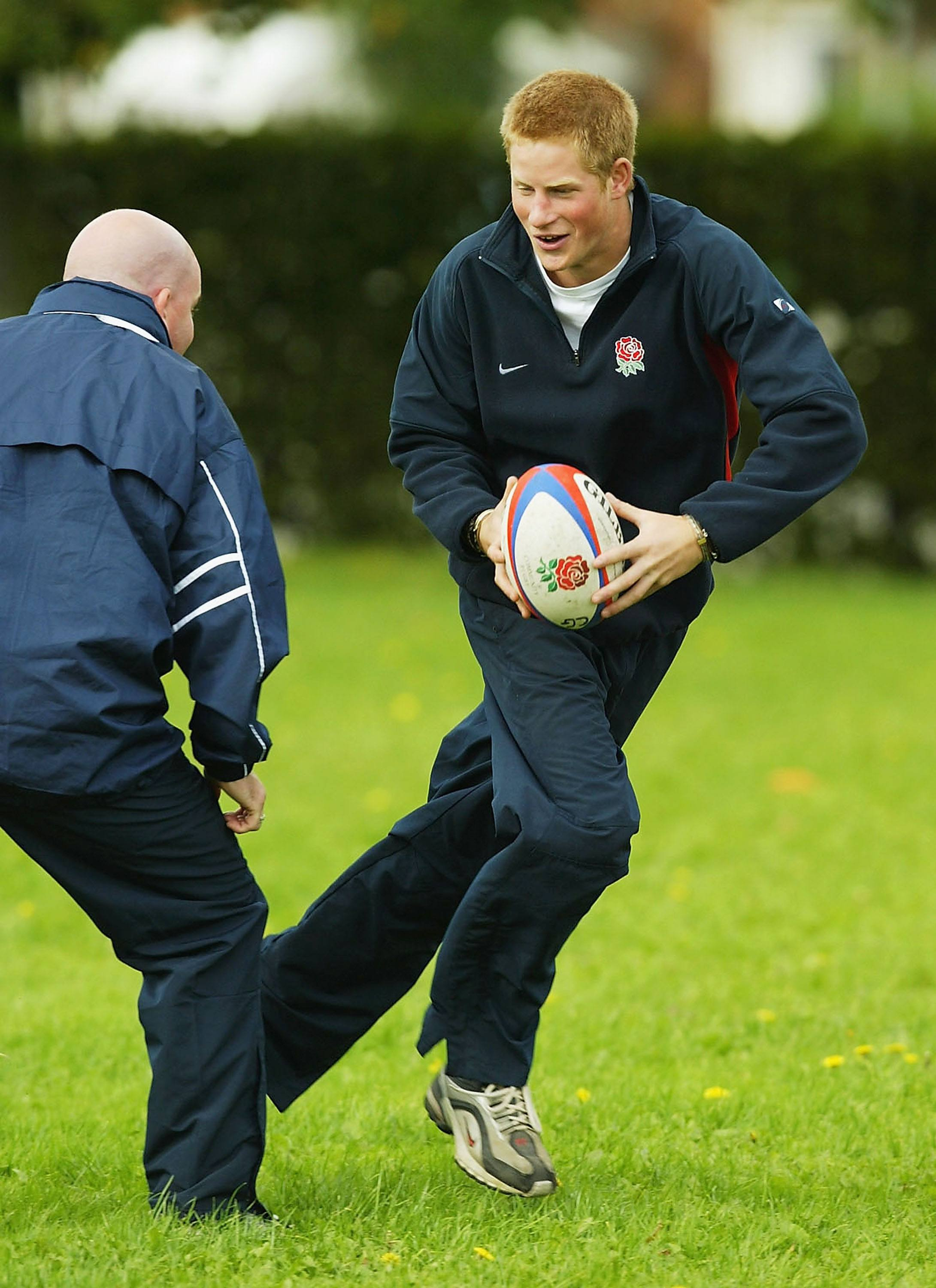 Prince Harry loves rugby