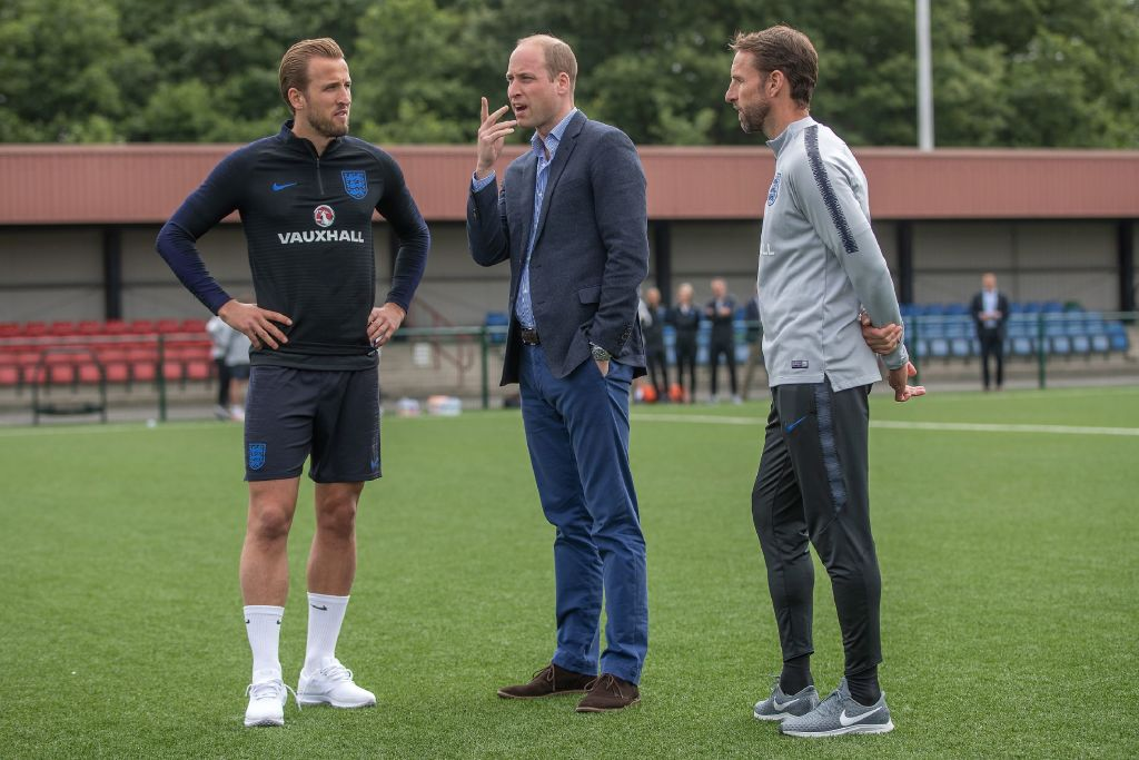Harry Kane, Prince William, Gareth Southgate