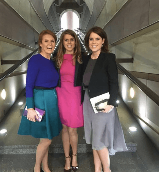 Sarah Ferguson, Princess Beatrice, and Princess Eugenie
