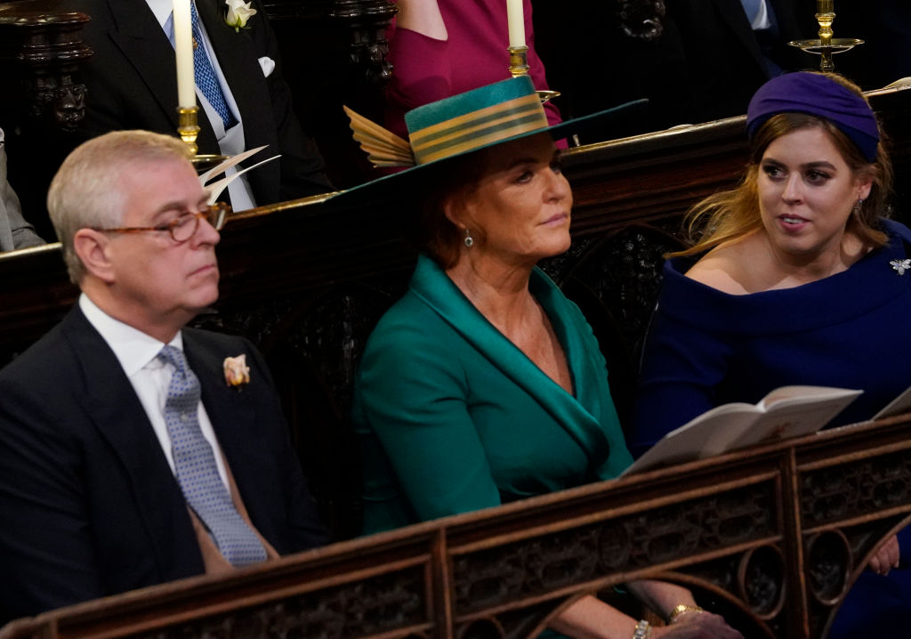 Sarah Ferguson, Prince Andrew, and and Princess Beatrice