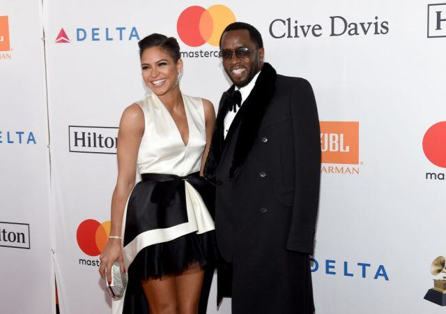 """Actor Cassie Ventura (L) and recording artist-producer Sean """"Diddy"""" Combs"""