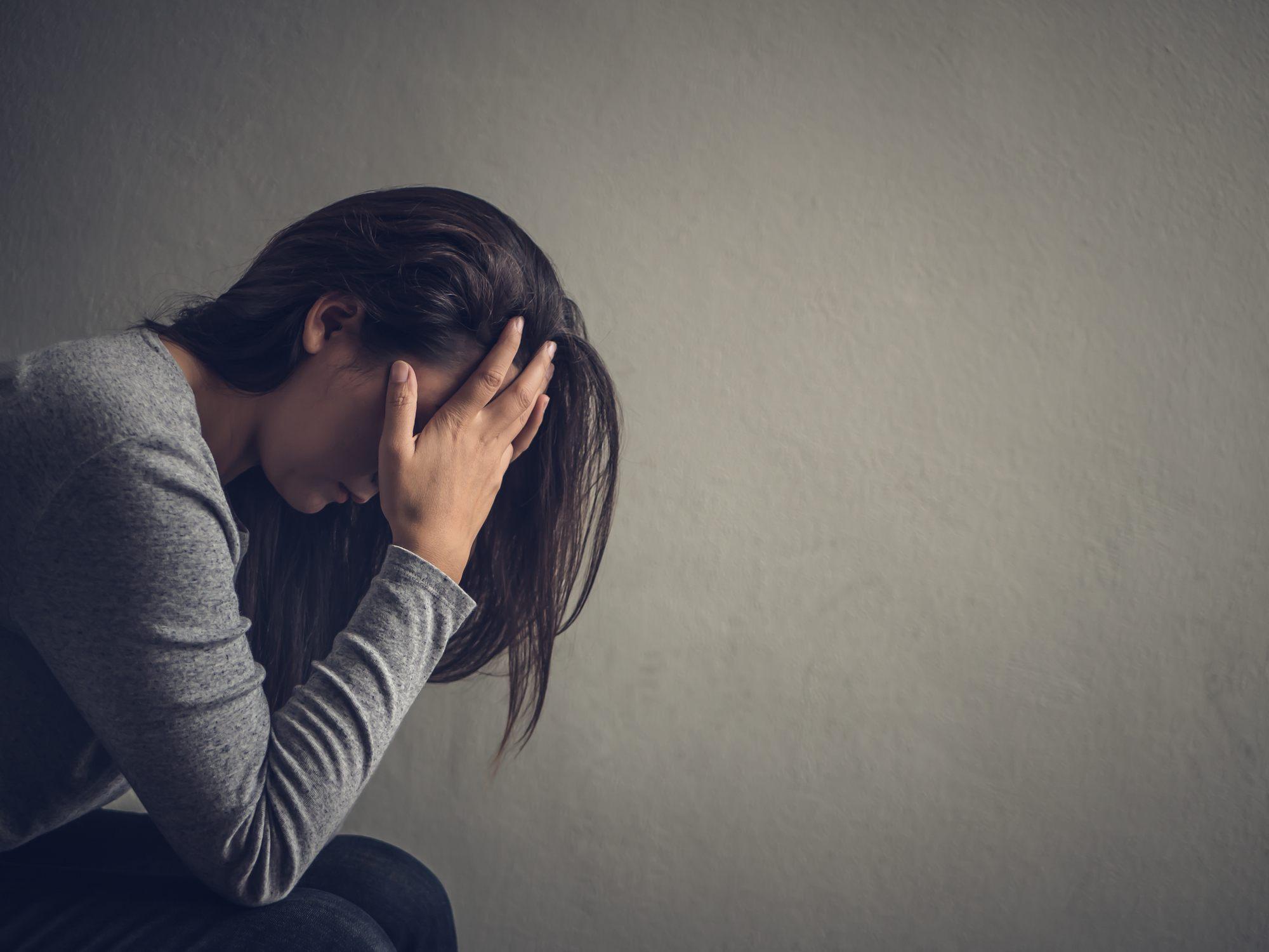 ashamed woman