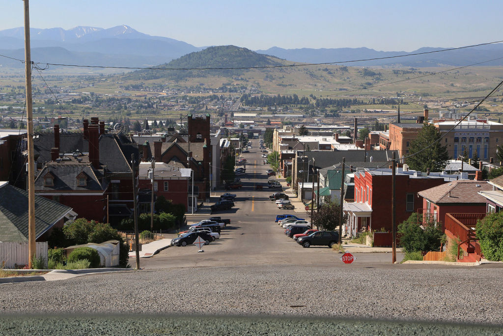 Street in Butte, Montana, which is one of the most sprawling American cities