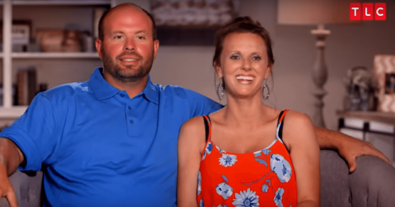 Screengrab of Eric and Courtney Waldrop from 'Sweet Home Sextuplets'