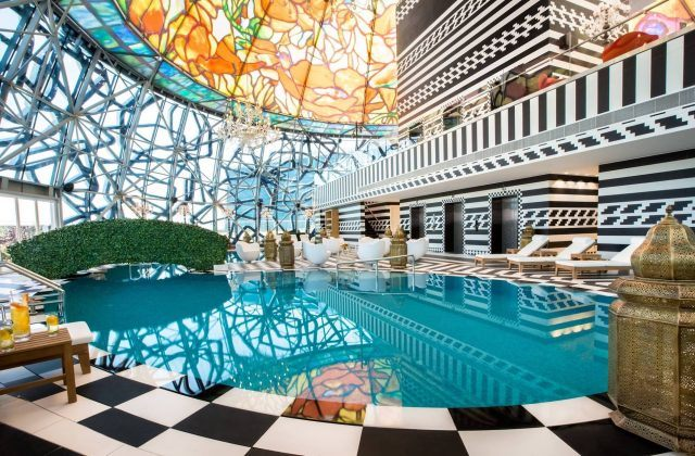 The pool at the Mondrian Doha