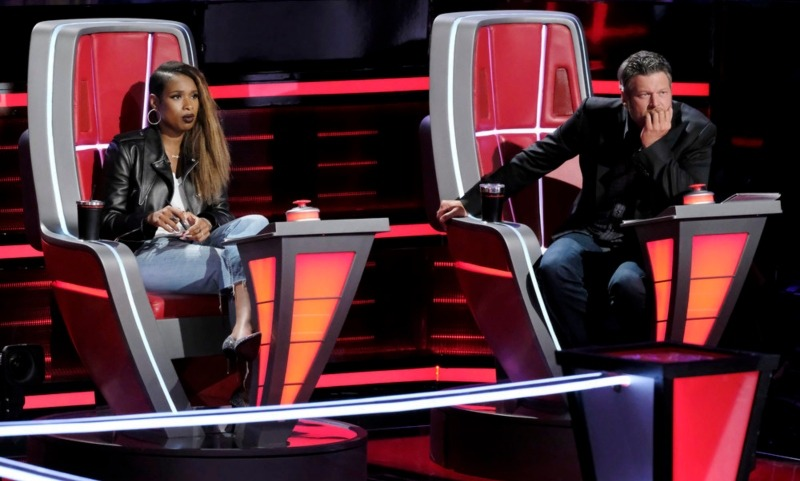 Jennifer Hudson and Blake Shelton The Voice