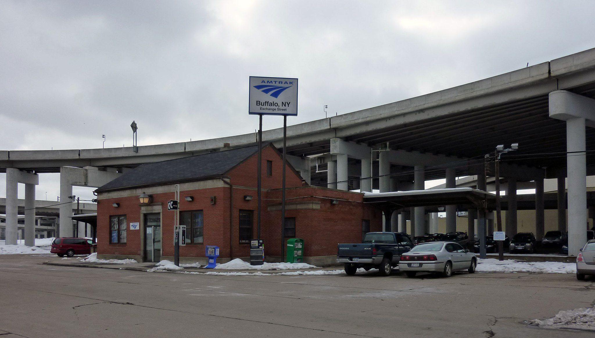 Ugliest train stations-Buffalo NY Exchange Street Station