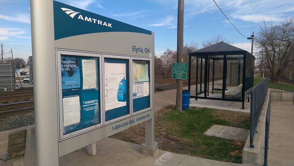 Ugliest train stations-Elryia OH Amtrak-