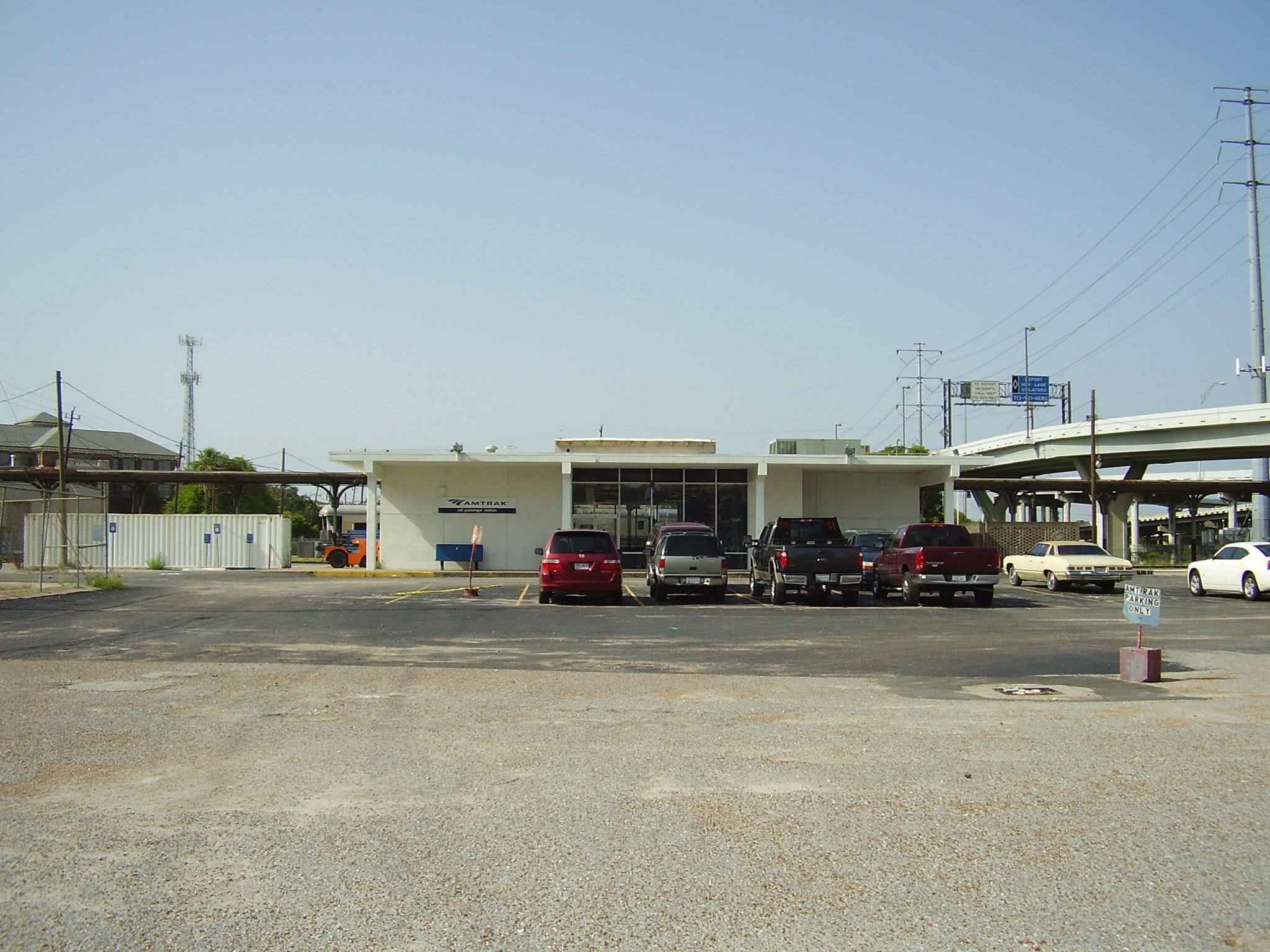 Ugliest train stations-Houston Amtrak Station