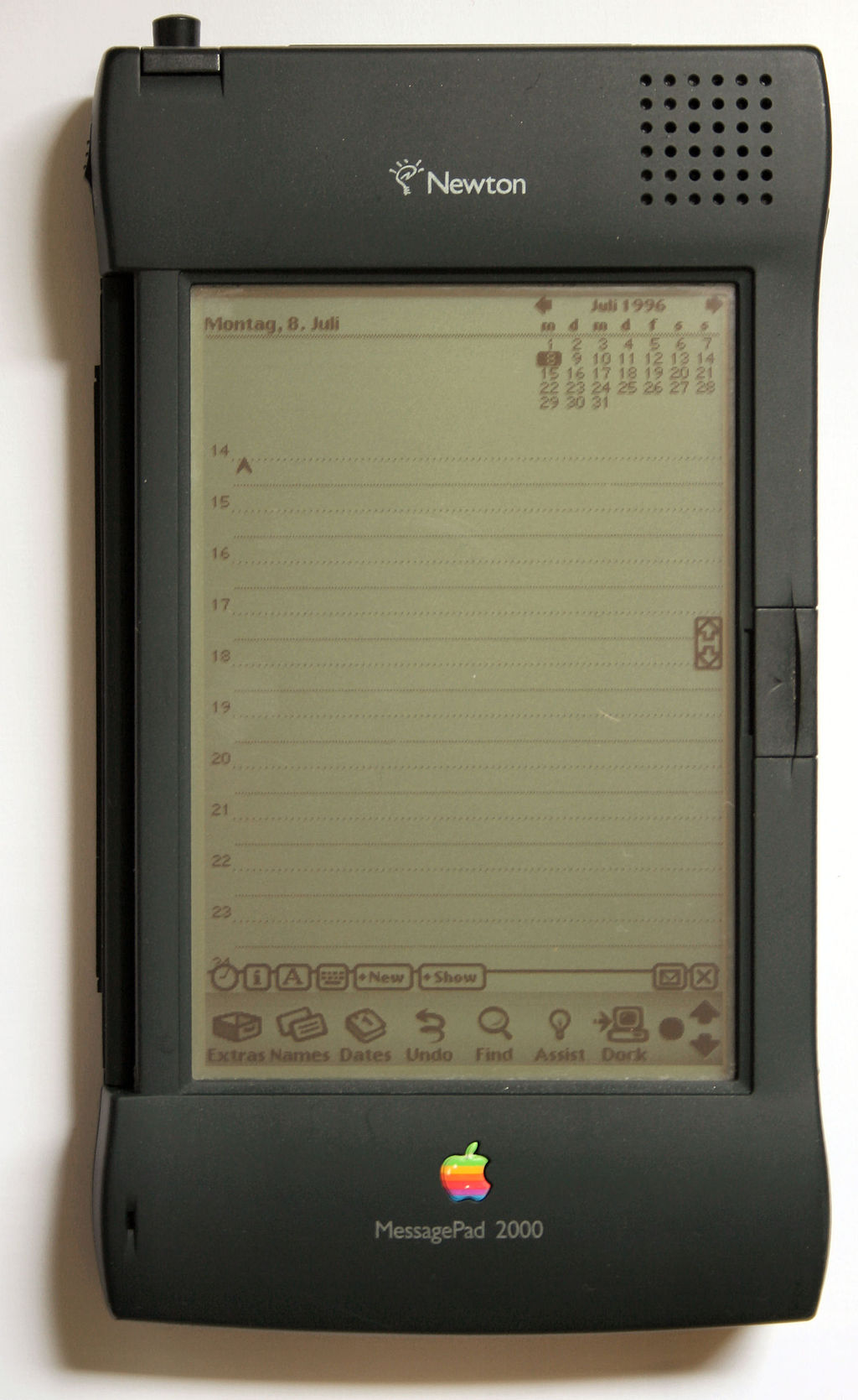 Apple Newton personal digital assistant.