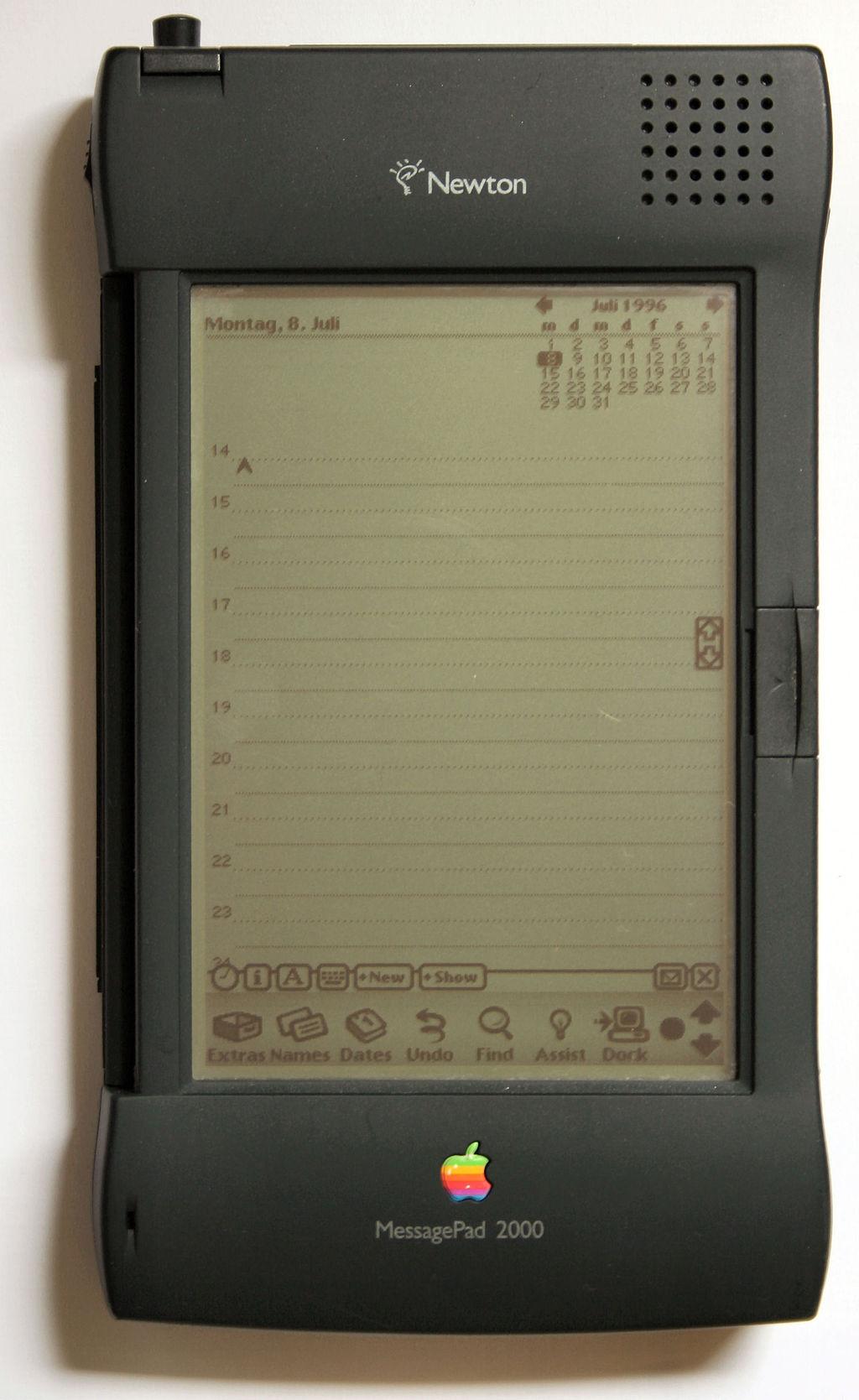 Apple Newton personal digital assistant.