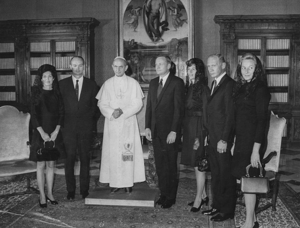 Apollo 11 astronauts with the Pope