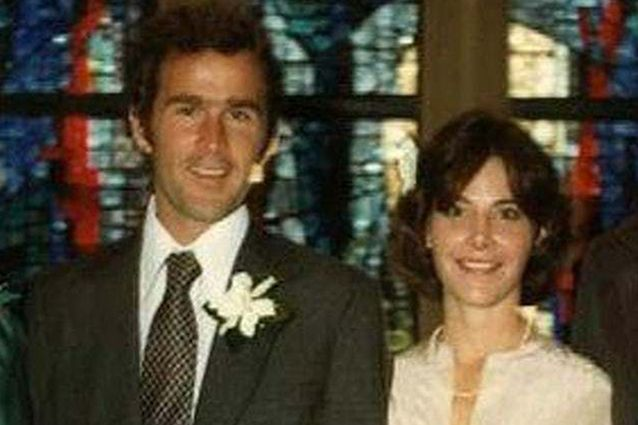 George and Laura Bush on their wedding day in 1977