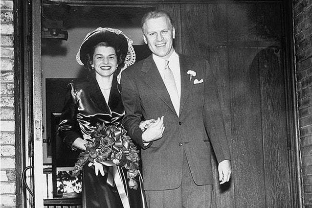 Gerald and Betty Ford on their wedding day in 1948
