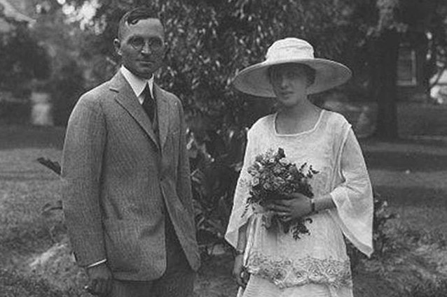 Harry and Bess Truman on their wedding day in 1919