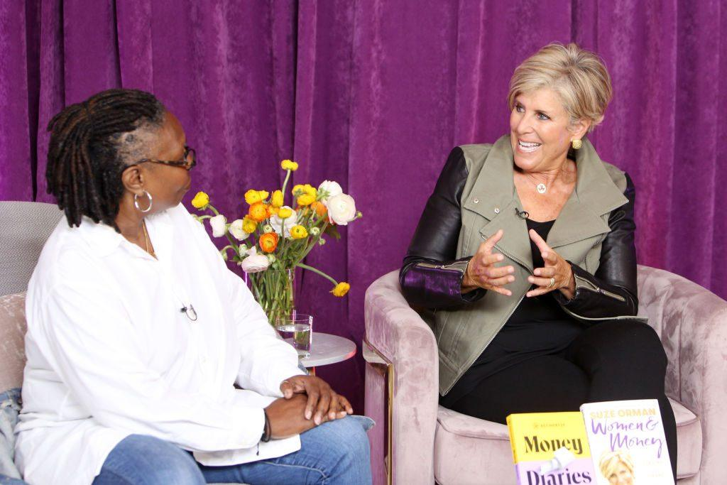 Suze Orman and Whoopi Goldberg