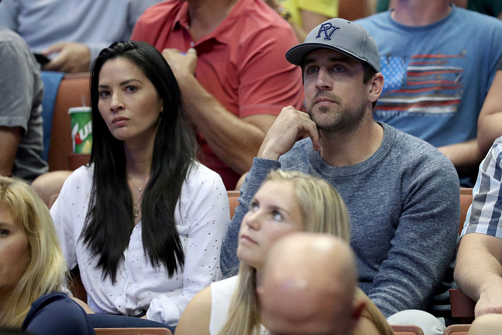 Actress Olivia Munn and Aaron Rodgers