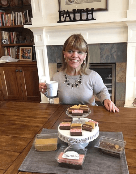 Amy Roloff with homemade baked goods