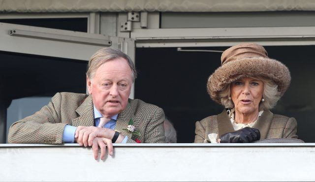 Andrew Parker Bowles OBE and Camilla, Duchess of Cornwall attend Ladies Day