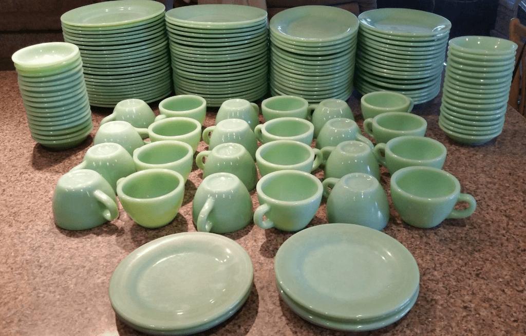 Jadeite dish set