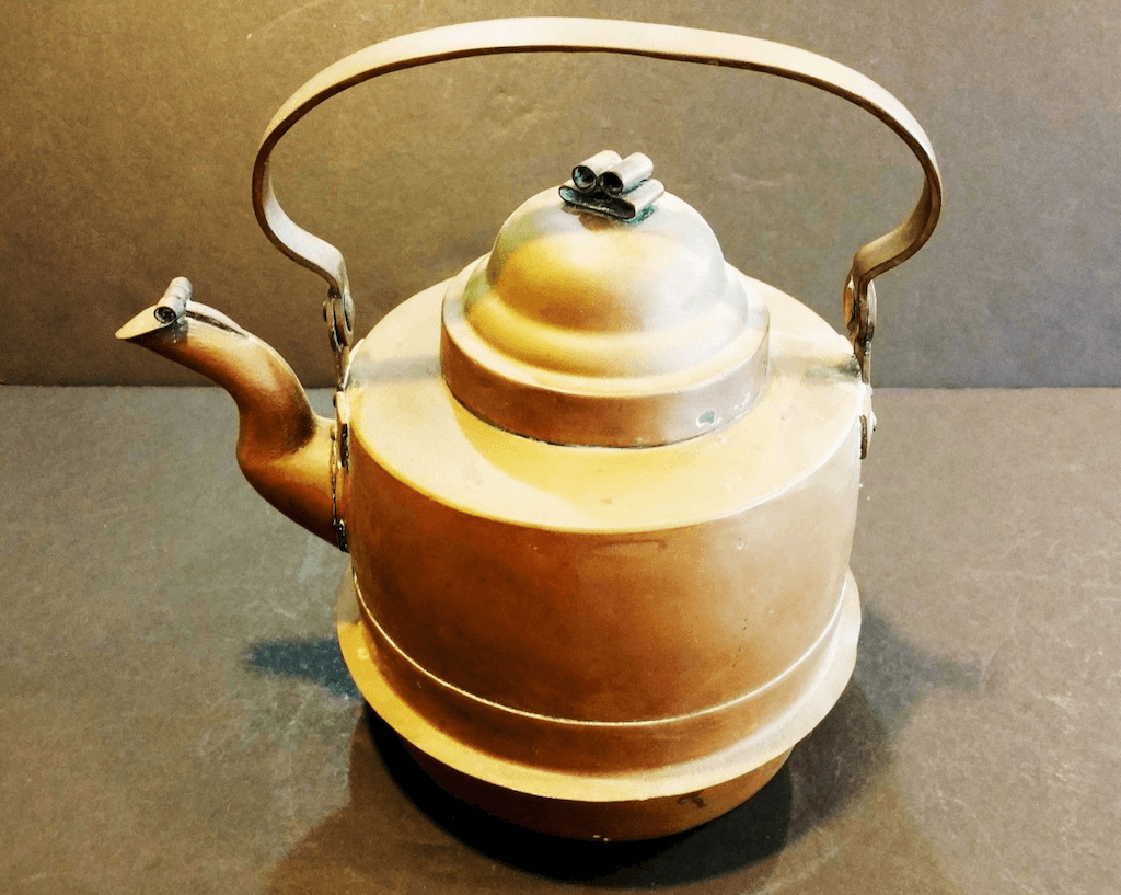 Swedish copper tea kettle
