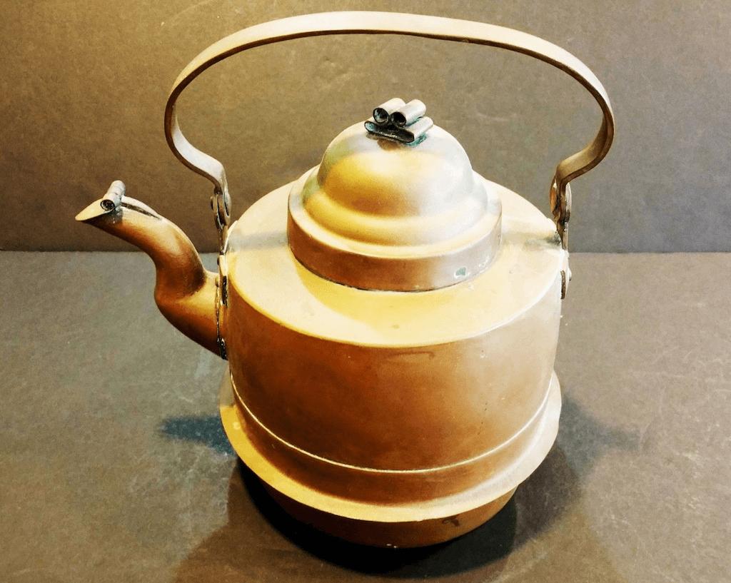 Swedish copper tea kettle