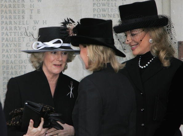 Camilla, Duchess of Cornwall (L), Sophie Rhys-Jones, Countess of Wessex(M) and Princess Michael of Kent attend the second memorial service for Lord Lichfield