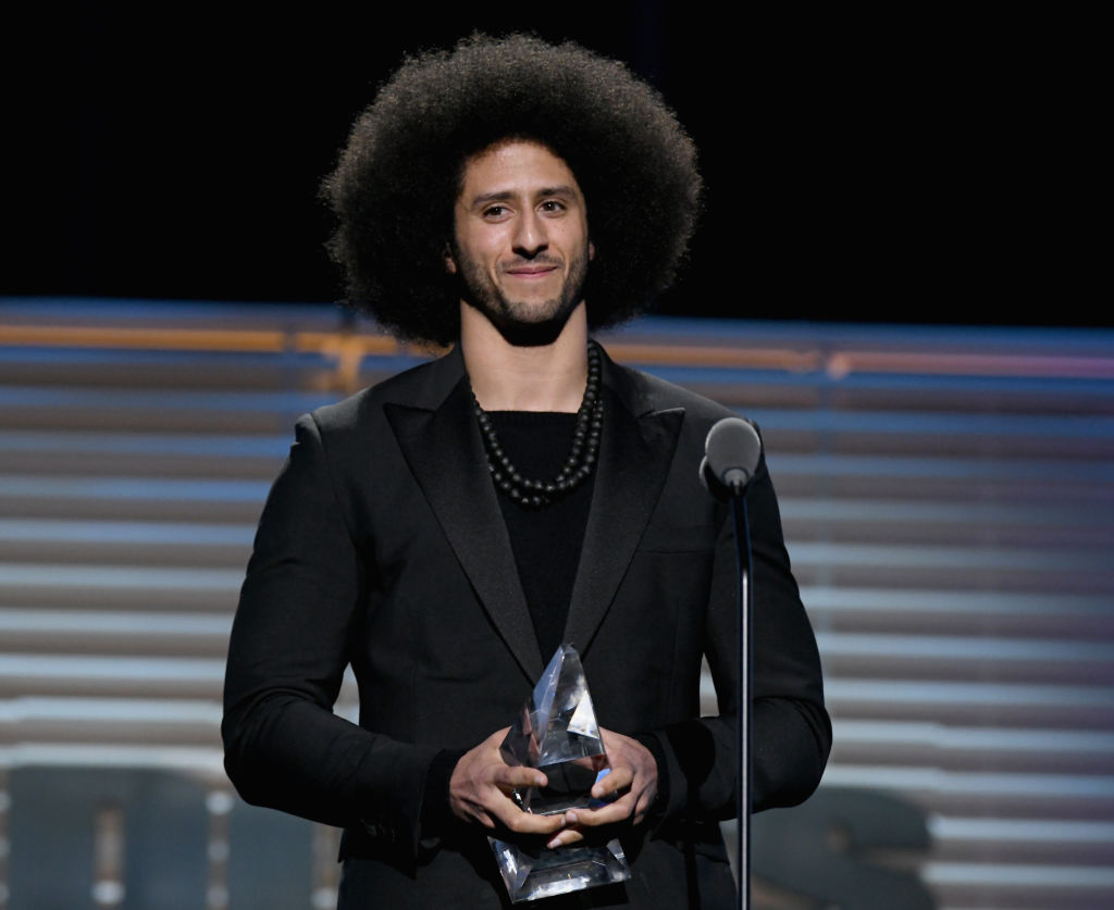 Colin Kaepernick receives the SI Muhammad Ali Legacy Award during SPORTS ILLUSTRATED 2017 Sportsperson of the Year Show on December 5, 2017 at Barclays Center in New York City.