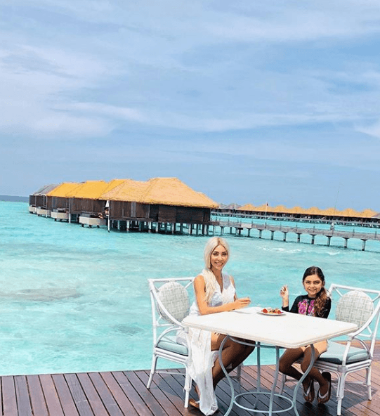 Farrah Abraham in the Maldives with her daughter