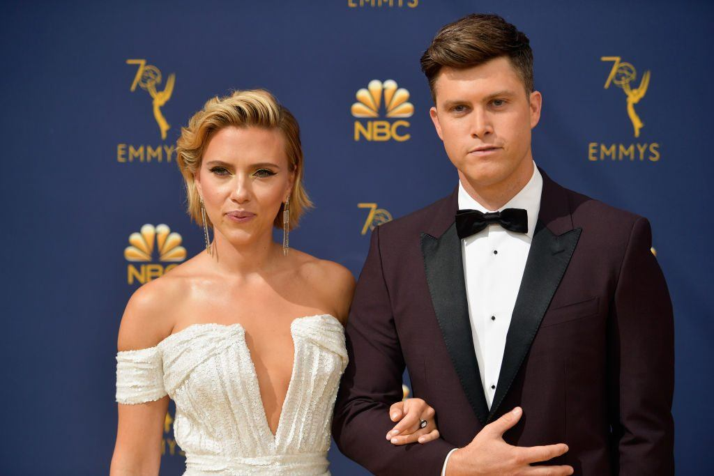 Scarlett Johansson and Colin Jost