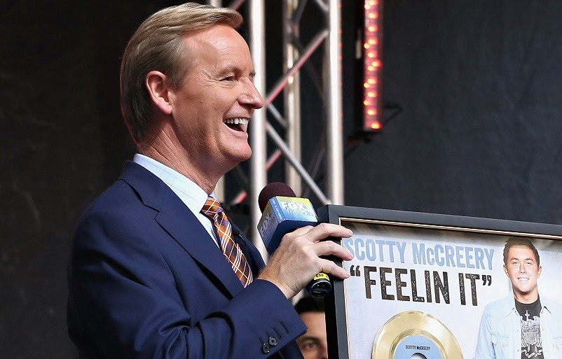 """Steve Doocy during """"FOX & Friends"""" All American ConcertSeries outside of FOX Studios on July 31, 2015 in New York City."""